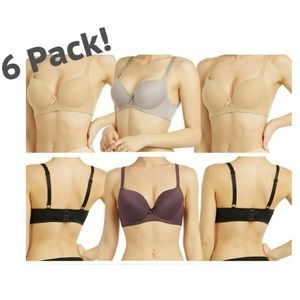 6 Pack Women's Bra Full Coverage in Assorted Color